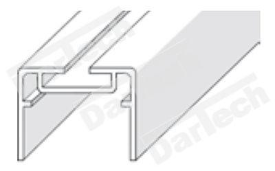Profil din aluminiu pentru coala pvc